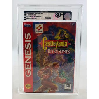 Sega Genesis CastleVania Bloodlines VGA 80+ NM Authentic Factory Sealed