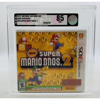 Nintendo 3DS NEW Super Mario Bros. 2 VGA 85 NM+ NEAR MINT Sealed