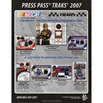2007 Press Pass Traks Racing Hobby Box