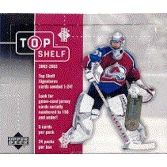 2002/03 Upper Deck Top Shelf Hockey Hobby Box