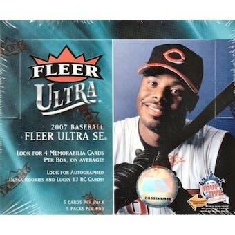 2007 Fleer Ultra SE Baseball Hobby Box