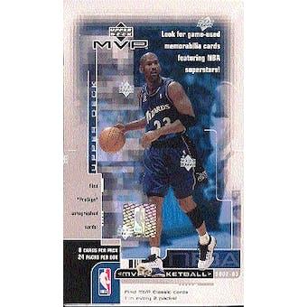 2002/03 Upper Deck MVP Basketball Hobby Box