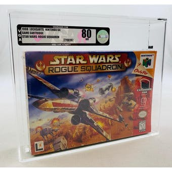 Nintendo 64 (N64) Star Wars: Rouge Squadron VGA 80 NM NEAR MINT Factory Sealed