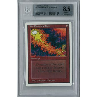 Magic the Gathering Unlimited Red Elemental Blast BGS 8.5 (9.5, 9.5, 9, 8)