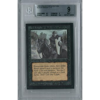 Magic the Gathering Collector's Edition CE IE Black Knight BGS 9 (8.5, 9, 9.5, 9.5)