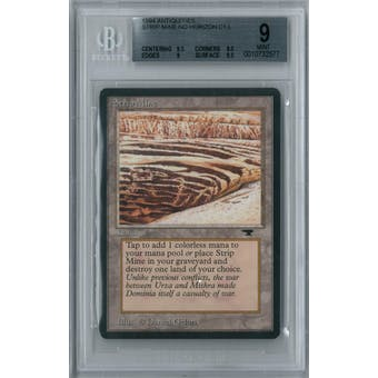 Magic the Gathering Antiquities Strip Mine (No Horizon) BGS 9 (9.5, 8.5, 9, 9.5)