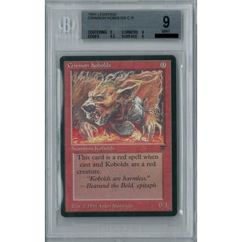 Magic the Gathering Legends Crimson Kobolds BGS 9 (9, 9, 9.5, 9)