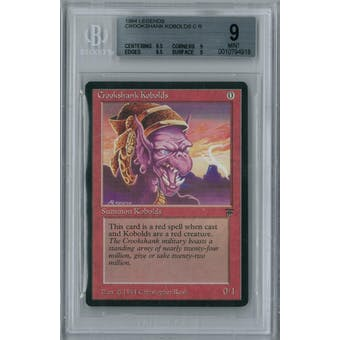 Magic the Gathering Legends Crookshank Kobolds BGS 9 (9.5, 9, 9.5, 9)