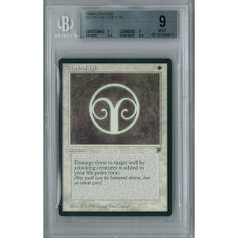 Magic the Gathering Legends Glyph of Life BGS 9 (9, 9, 9.5, 9.5)