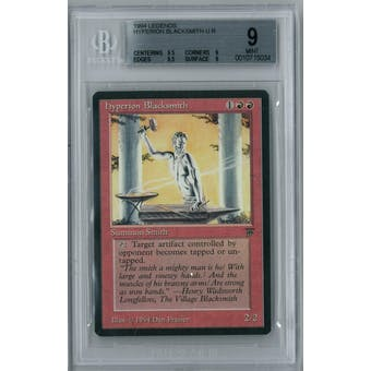 Magic the Gathering Legends Hyperion Blacksmith BGS 9 (9.5, 9, 9.5, 9)