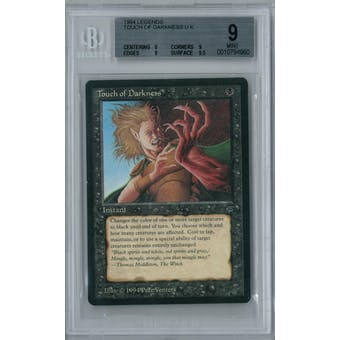 Magic the Gathering Legends Touch of Darkness BGS 9 (9, 9, 9, 9.5)
