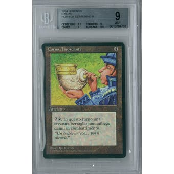 Magic the Gathering Italian Legends Horn of Deafening BGS 9 (8.5, 9, 9, 9.5)