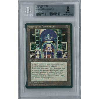 Magic the Gathering Italian Legends Knowledge Vault BGS 9 (9, 9.5, 9, 9.5)