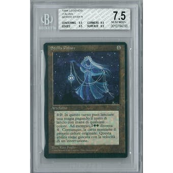 Magic the Gathering Italian Legends North Star BGS 7.5 (6.5, 9.5, 9.5, 9.5)
