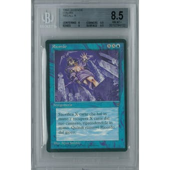 Magic the Gathering Italian Legends Recall BGS 8.5 (8, 9.5, 9, 9.5)