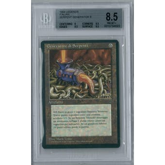 Magic the Gathering Italian Legends Serpent Generator BGS 8.5 (8, 9.5, 9.5, 9.5)