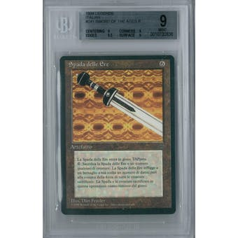 Magic the Gathering Italian Legends Sword of the Ages BGS 9 (9, 9, 9.5, 9)