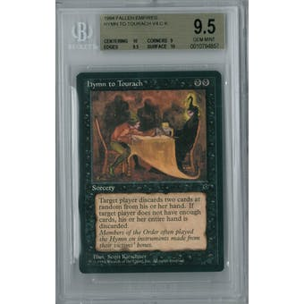 Magic the Gathering Fallen Empires Hymn to Tourach (Kirschner) BGS 9.5 (10, 9, 9.5, 10)