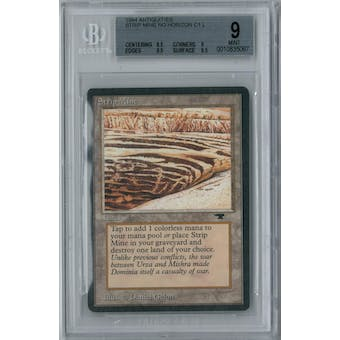Magic the Gathering Antiquities Strip Mine (No Horizon) BGS 9 (8.5, 9, 9.5, 9.5)
