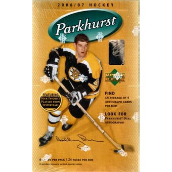 2006/07 Upper Deck Parkhurst Hockey Hobby Box