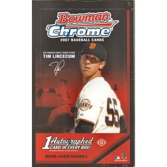 2007 Bowman Chrome Baseball Hobby Box