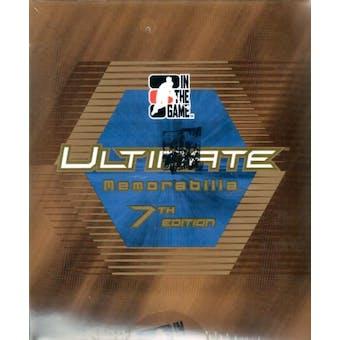 2006/07 ITG Ultimate Memorabilia 7th Edition Hockey Hobby Box