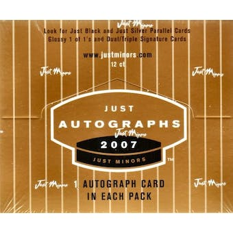 2007 Just Minors Autographs Baseball Hobby Box