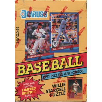 1991 Donruss Series 1 Baseball Canadian Wax Box