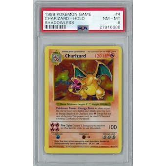 Pokemon Base Set Shadowless Charizard 4/102 PSA 8