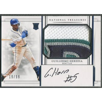 2017 Panini National Treasures #210 Guillermo Heredia Rookie Patch Auto #19/99