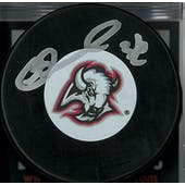Matthew Barnaby Autographed Buffalo Sabres Red & Black Hockey Puck