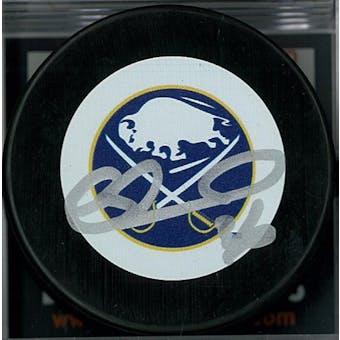 Matthew Barnaby Autographed Buffalo Sabres Vintage Hockey Puck