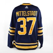 Casey Mittelstadt Autographed Buffalo Sabres Blue Hockey Jersey