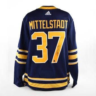 Casey Mittelstadt Autographed Buffalo Sabres Blue Hockey Jersey