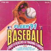 1991 Fleer Baseball Cello Box (Reed Buy)