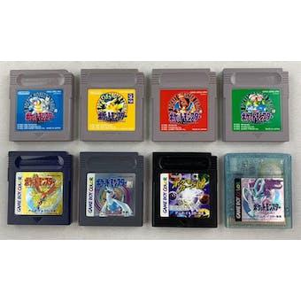 Nintendo Game Boy Color Pokemon 8 Game Lot (Japanese Version Pocket Monsters)