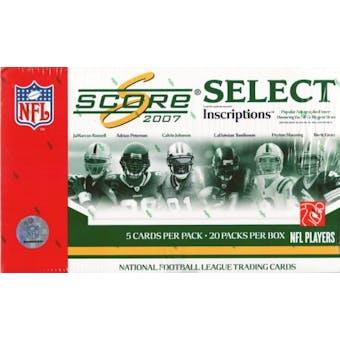 2007 Score Select Football Hobby Box
