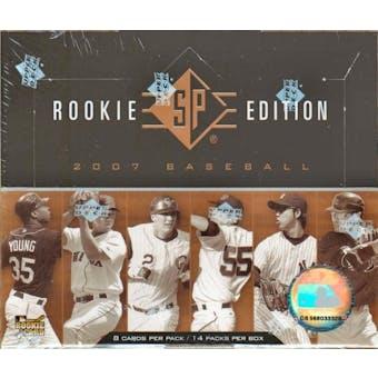 2007 Upper Deck SP Rookie Edition Baseball Hobby Box