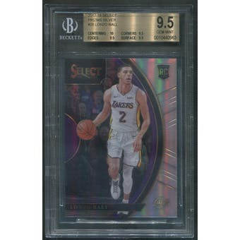 2017/18 Select Prizms #28 Lonzo Ball Rookie Silver BGS 9.5 (GEM MINT)