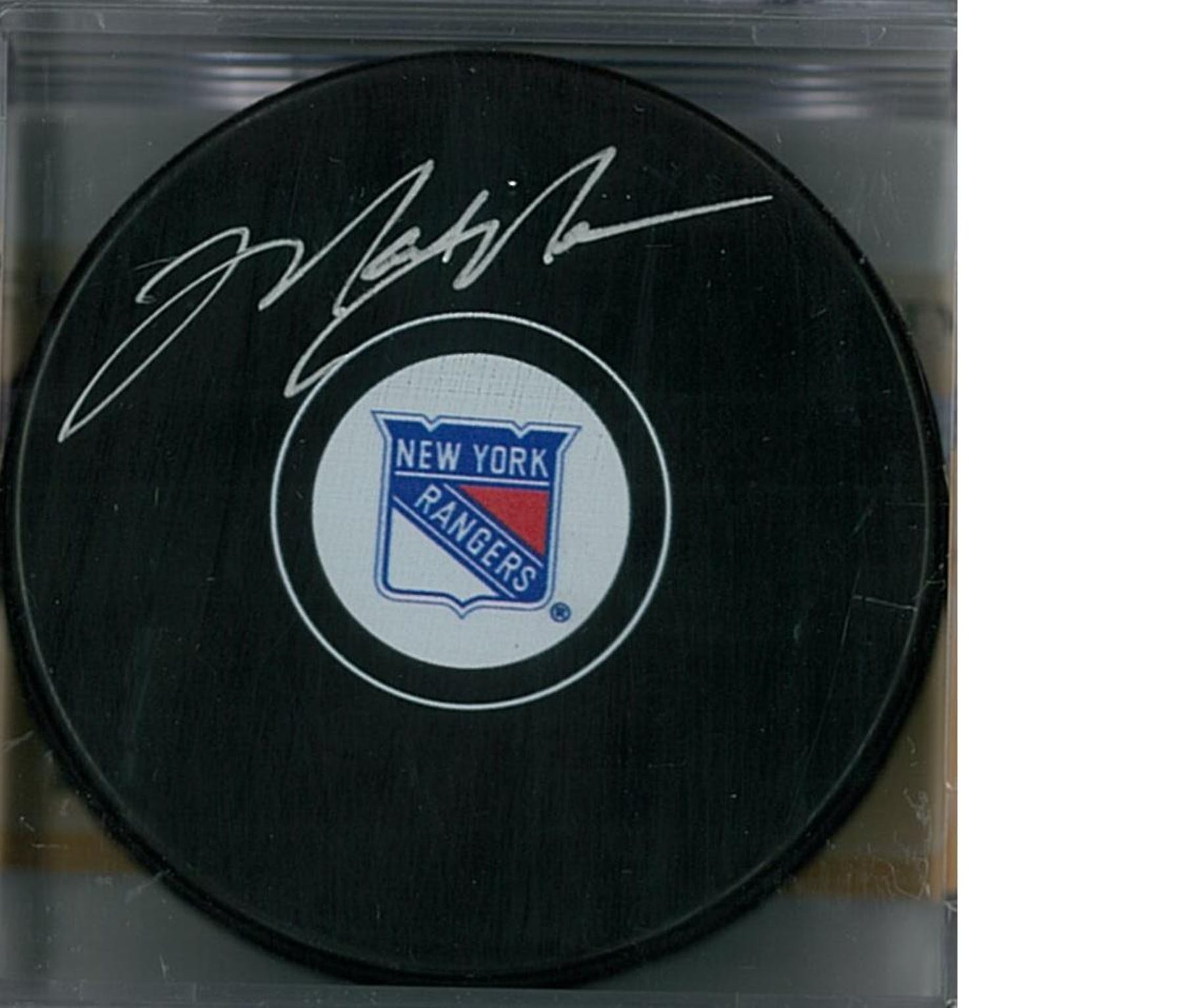online store 3cafb 6fcba Mark Messier Autographed New York Rangers Hockey Puck (Steiner COA)