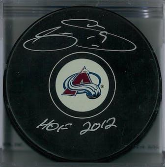 Joe Sakic Autographed Colorado Avalanche Puck (HockeyInk COA)