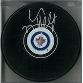 Connor Hellebuyck Autographed Winnipeg Jets Hockey Puck (AJSW COA)