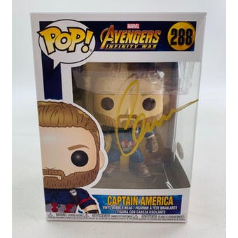 Marvel Infinity War Captain America Funko POP Autographed by Chris Evans