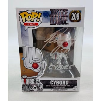 DC Justice League Cyborg Funko POP Autographed by Ray Fisher