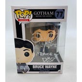DC Gotham Bruce Wayne Funko POP Autographed by David Mazouz