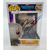Marvel Guardians of the Galaxy Drax Funko POP Autographed by Dave Bautista