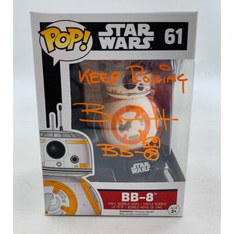 Star Wars Force Awakens BB-8 Funko POP Autographed by Brian Herring