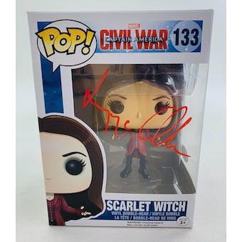 Marvel Civil War Scarlet Witch Funko POP Autographed by Elizabeth Olsen