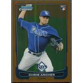 2012 Bowman Chrome Draft #35 Chris Archer Rookie Orange Refractor #01/25