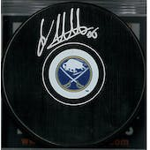 Linus Ullmark Autographed Buffalo Sabres Hockey Puck